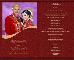 Undangan Pernikahan merah 300x244 Undangan pernikahan yang akan membuat indah susana nikah anda. [CT 03]