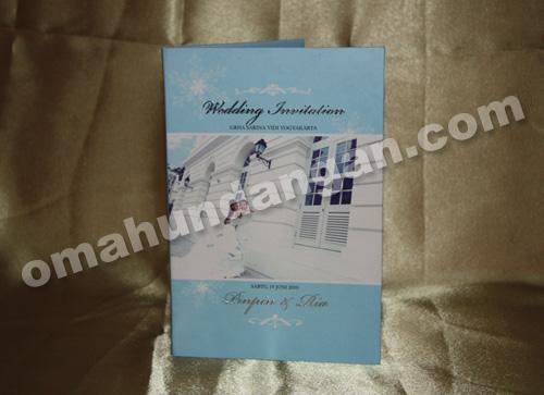 undangan blue snow depan Undangan Blue Snow [HC 01]