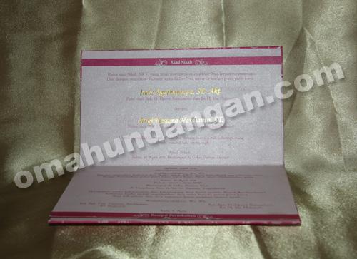 undangan elegant pink dalam Undangan Elegant Pink [HC 06]