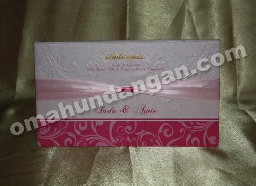 undangan elegant pink depan Undangan Elegant Pink [HC 06]
