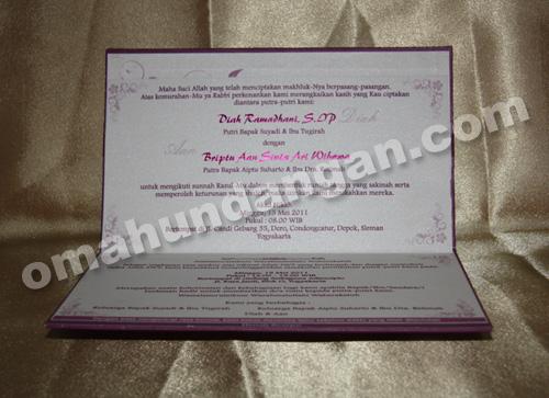 undangan elegant purple dalam Undangan Elegan Purple [HC 04]
