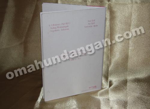 undangan elegant white Undangan White Elegant [HC 07]