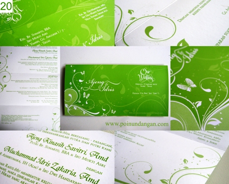 undangan nikah hijau2 Undangan Nikah   Kata kata yang bisa digunakan dalam undangan nikah