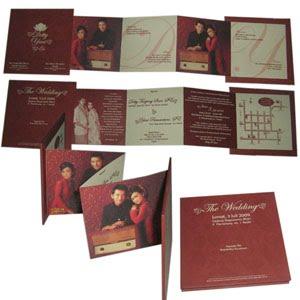 undangan nikah merah maroon Undangan pernikahan yang akan membuat indah susana nikah anda. [CT 03]