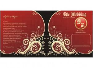 undangan nikah red 300x220 Undangan pernikahan yang akan membuat indah susana nikah anda. [CT 03]