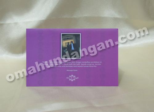 undangan simple purple belakang Undangan nikah Simple Purple [SC 02]