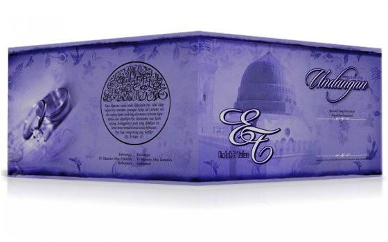 Undangan Nikah ungu2 Undangan Nikah