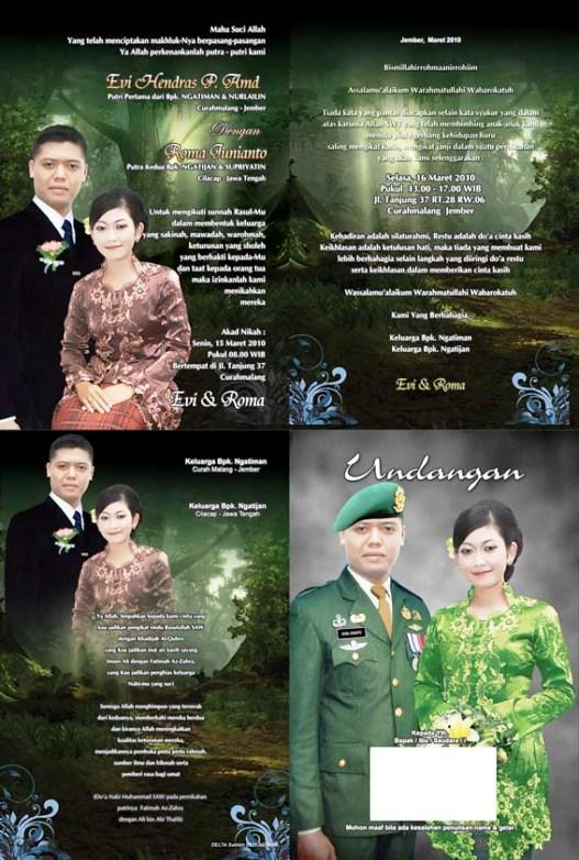 Undangan Pernikahan hijau Desain undangan pernikahan eksklusif untuk anda pilih [CT 02]