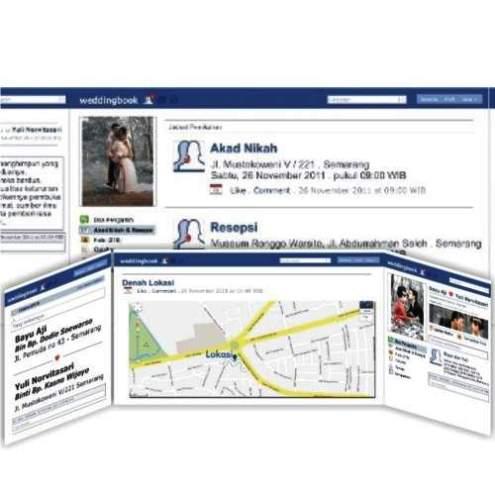 Undangan facebook Desain undangan pernikahan eksklusif untuk anda pilih [CT 02]