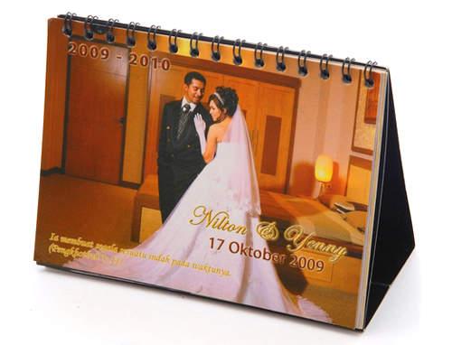 undangan kalender 2 Undangan pernikahan kalender [CT 01]