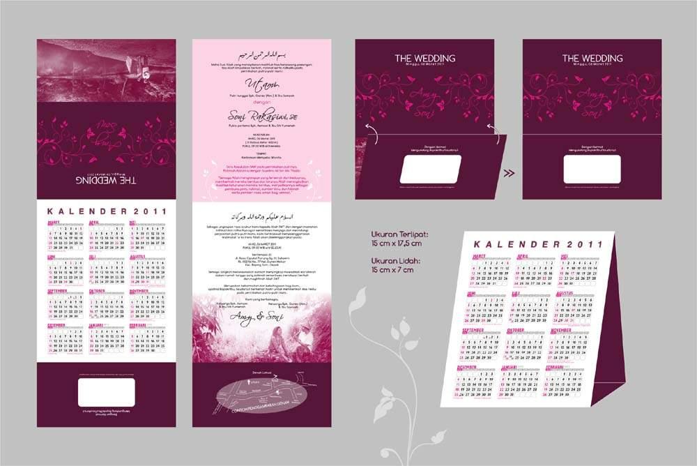 undangan kalender 21 Undangan pernikahan kalender [CT 01]