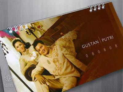 undangan kalender 3 Undangan pernikahan kalender [CT 01]
