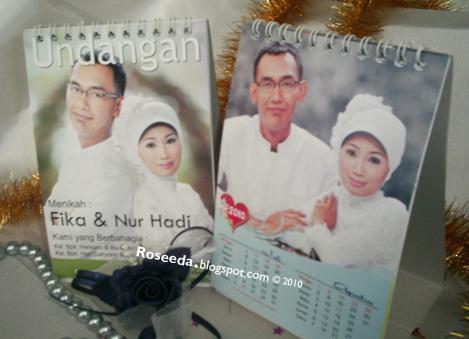 undangan kalender 4 Undangan pernikahan kalender [CT 01]
