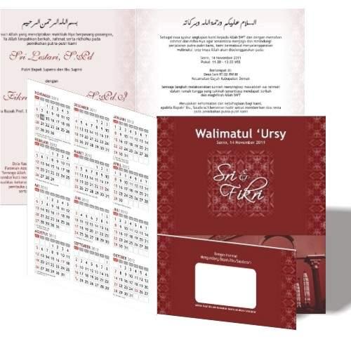 undangan kalender1 Undangan pernikahan kalender [CT 01]