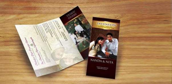 undangan nikah coklat Desain undangan pernikahan eksklusif untuk anda pilih [CT 02]