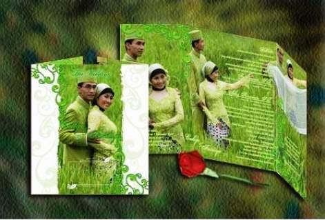 undangan pernikahan hijau tua Desain undangan pernikahan eksklusif untuk anda pilih [CT 02]