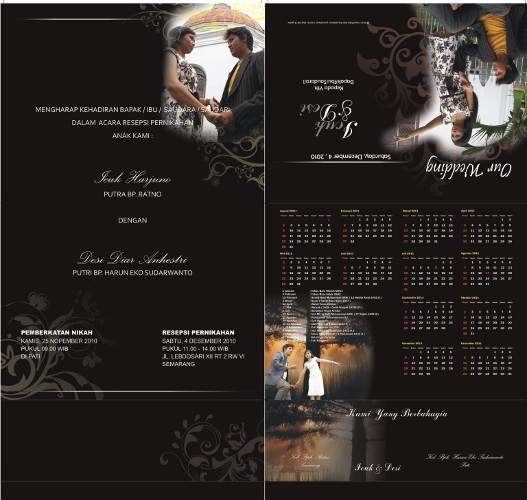 undangan pernikahan kalender 2 Undangan pernikahan kalender [CT 01]