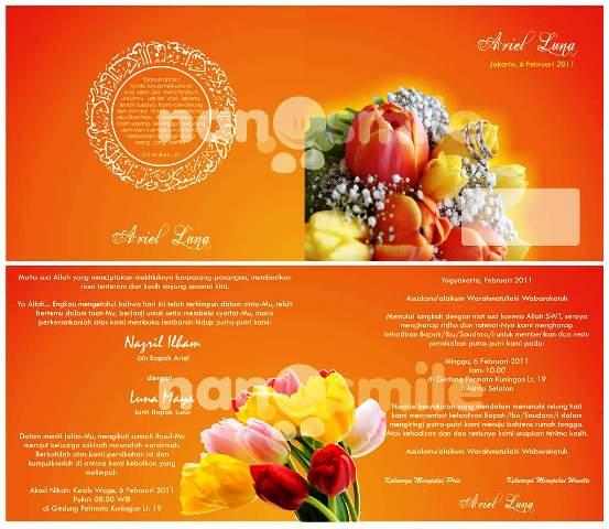 undangan pernikahan orange Desain undangan pernikahan eksklusif untuk anda pilih [CT 02]