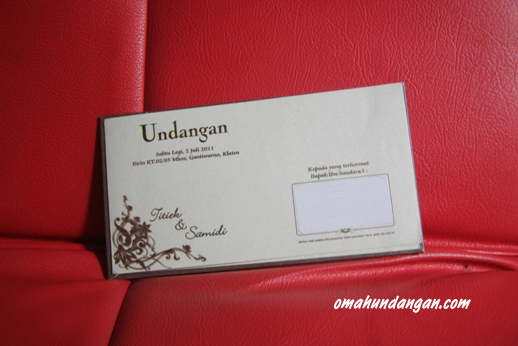 undangan pernikahan single hardcover SHC 01 Undangan pernikahan single hardcover jasmine [SHC 01]