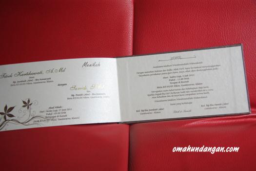 undangan pernikahan single hardcover dalam SHC 01 Undangan pernikahan single hardcover jasmine [SHC 01]