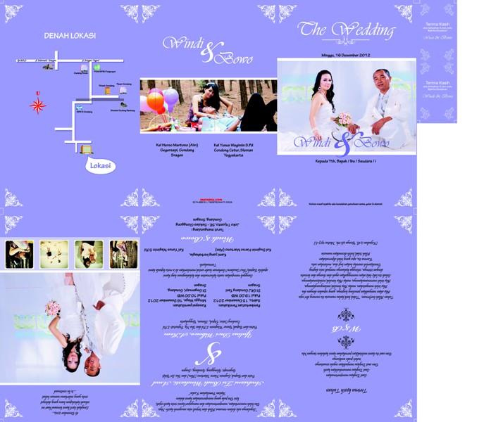 undangan pernikahan softcover ungu besar Undangan pernikahan softcover ...