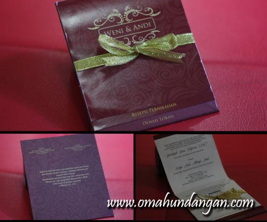 undangan coklat SHC 02 jogja artpaper Undangan pernikahan coklat single hard cover [SHC 02]