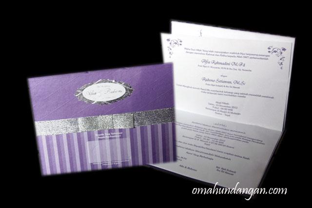 undangan ungu elegan pita silver Undangan ungu elegan pita [HC10]