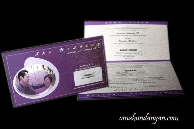 undangan ungu hardcover panjang Undangan ungu hardcover panjang [HC 14]