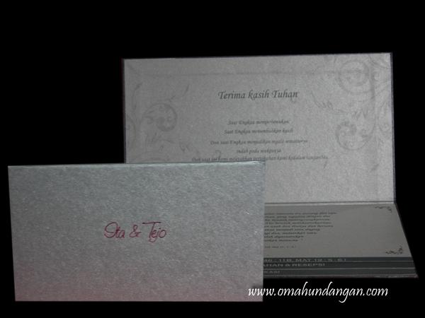 undangan hard cover abuabu HC19 Undangan elegan abu abu [HC 19]