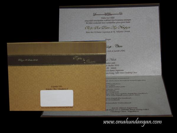 undangan hard cover gold HC18 Undangan pernikahan gold [HC 18]