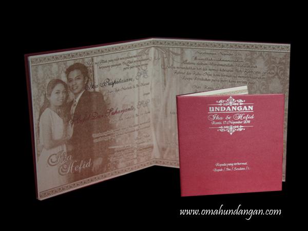 undangan hard cover merah HC21 Undangan pernikahan merah jasmine [HC 21]