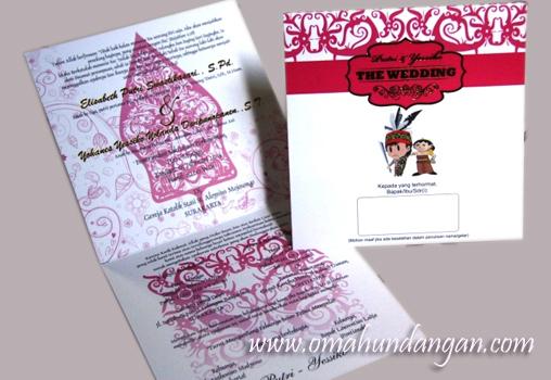 undangan pernikahan dayak jawa Undangan pernikahan Dayak Jawa [SC 15]