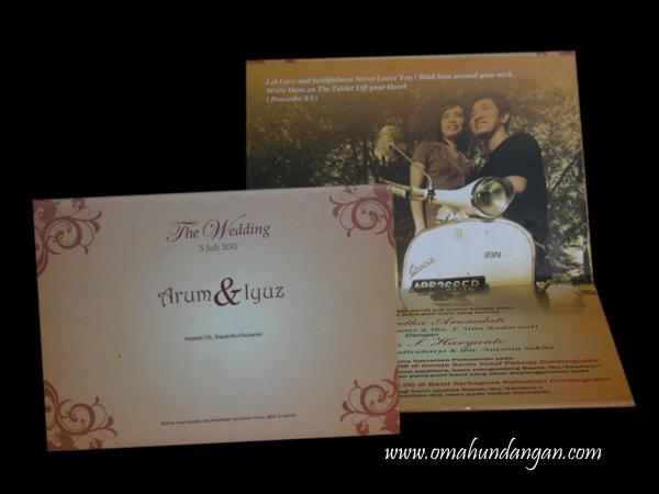 undangan pernikahan hard cover coklat HC20 Undangan pernikahan coklat ...