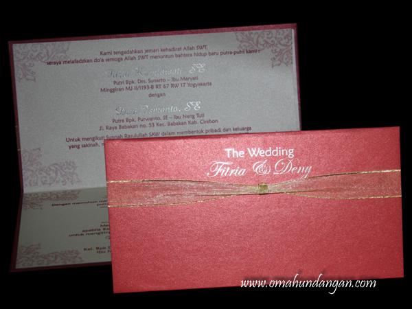undangan pernikahan hard cover merah HC22 Undangan pernikahan merah hardcover [HC 22]