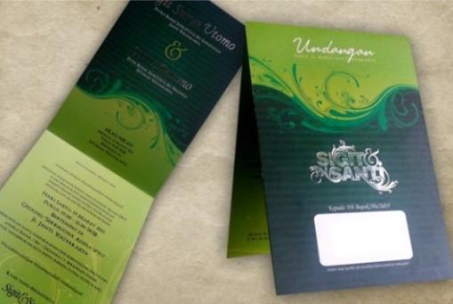 undangan elegan hijau Undangan Elegan