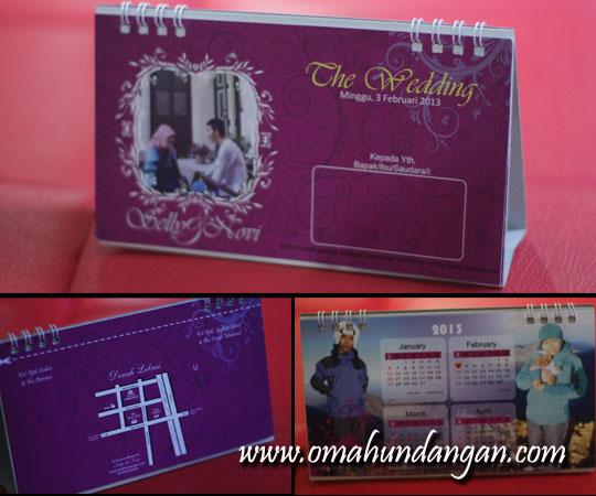 undangan kalender Pernikahan Sely & novi (madiun)