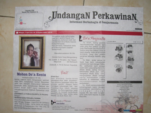undangan koran unik Contoh undangan unik