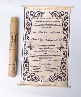 undangan unik bambu Contoh undangan unik