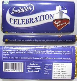 undangan unik coklat Contoh undangan unik