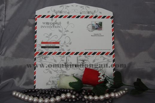 undangan amplop putih Undangan pernikahan amplop [SC 22]