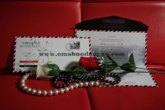 undangan amplop unik putih Undangan pernikahan amplop [SC 22]