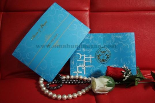 undangan elegan biru bali Undangan elegan biru [SC 23]