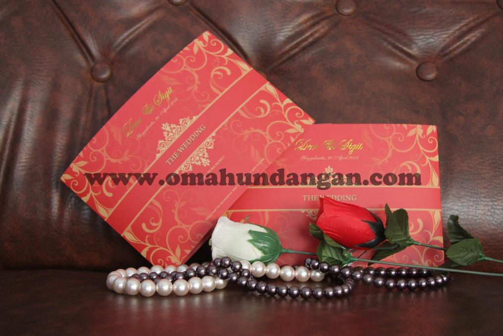 undangan elegan merah depan Undangan Elegan Merah Bata (SC 27)