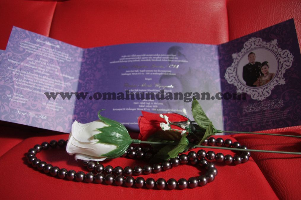 undangan elegan ungu tengah Undangan Elegan Ungu (SC 25)