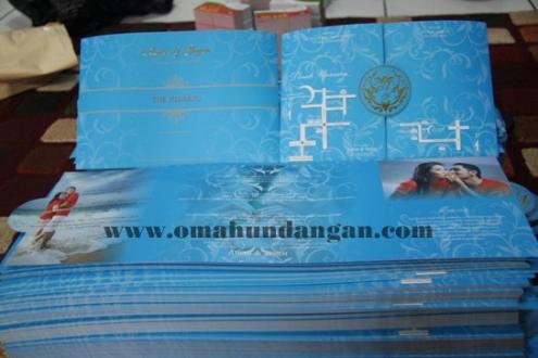 undangan unik biru bali Undangan elegan biru [SC 23]