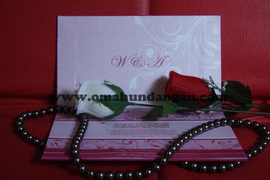 hardcover dengan amplop Undangan pernikahan hardcover pink [HC 24]
