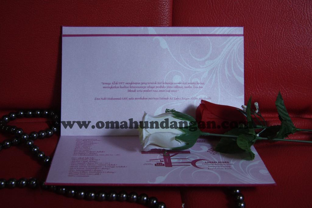 hardcover pink Undangan pernikahan hardcover pink [HC 24]