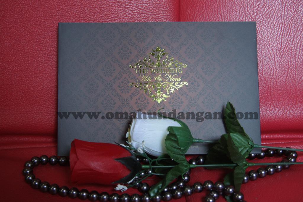 undangan pernikahan elegan coklat Undangan pernikahan islami coklat klasik [SC 39]