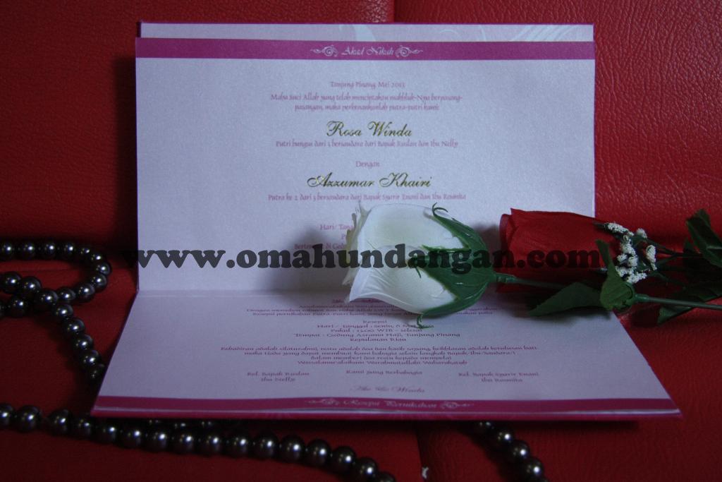 undangan pernikahan Undangan pernikahan hardcover pink [HC 24]