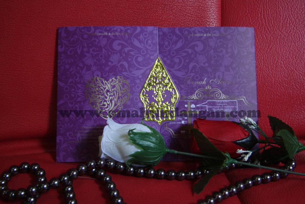 undangan ungu gunungan Undangan pernikahan ungu ornamen gunungan wayang [sc 31]